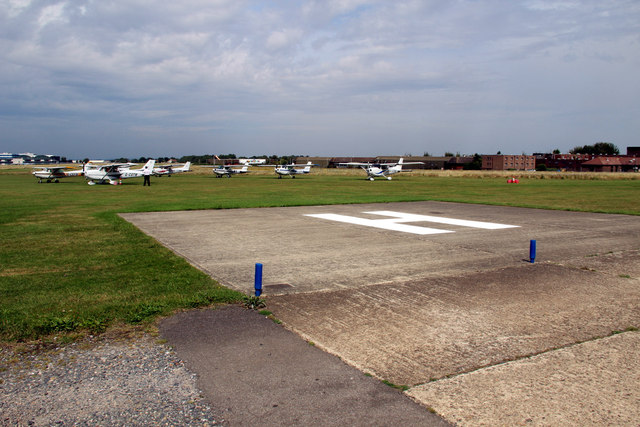 Helicopter Pad, Rochester Airport, Kent