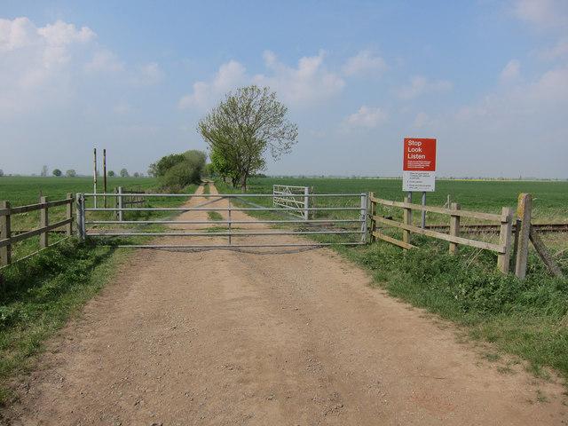 Bramley Line level crossing