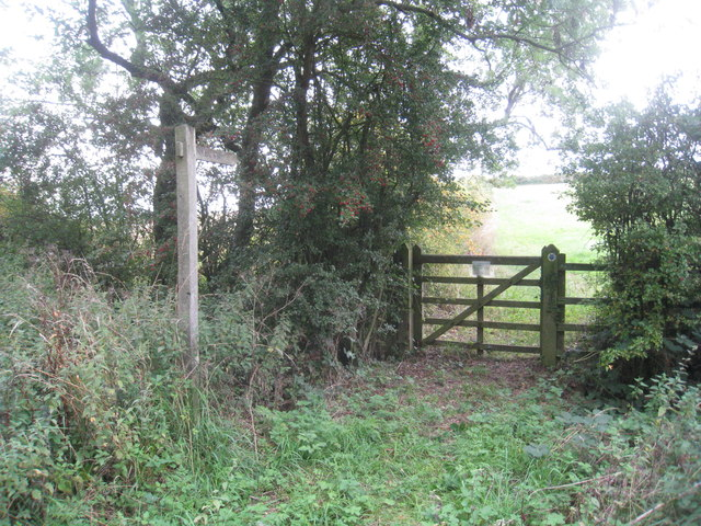 The beginning of the bridleway to Swinderby Road