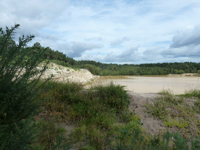 Disused sandpit at Minsted