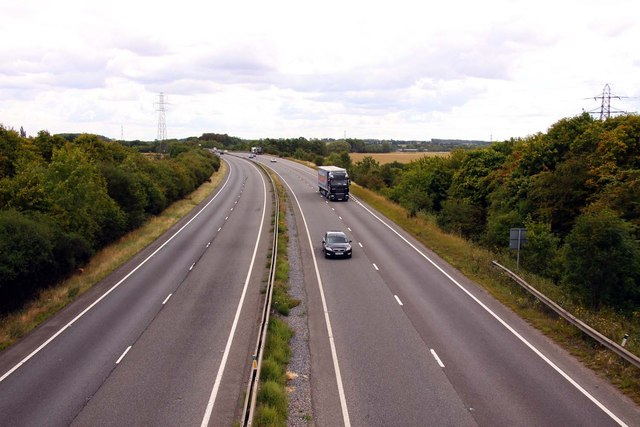 The A34 to Newbury