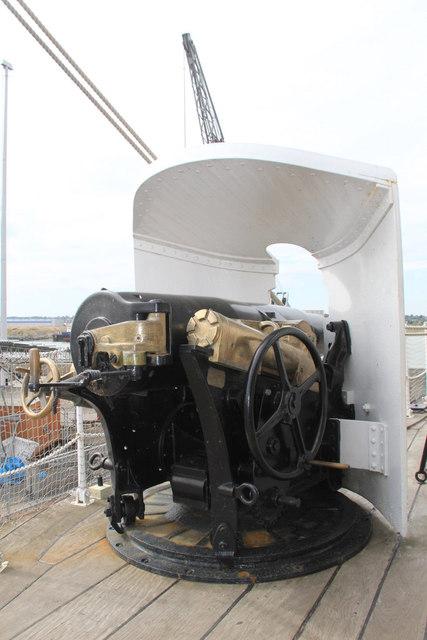 Cannon, HMS Gannet, Chatham Historic Dockyard, Kent