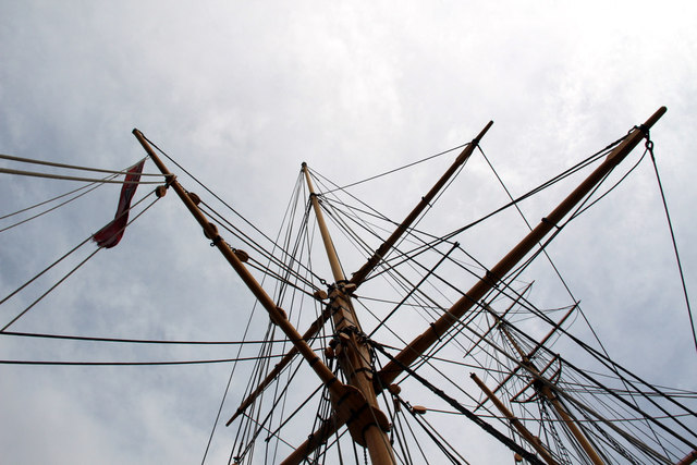 Rigging, HMS Gannet, Chatham Historic Dockyard, Kent