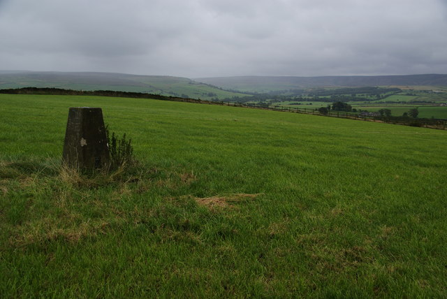 Trig point on Lower Hill