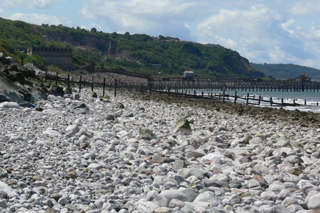 View west along Llanddulas beach