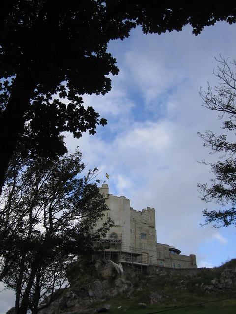 Renovation work at Roch Castle