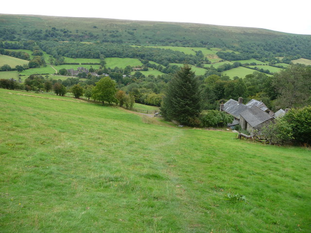Part of the Beacons Way above Llanthony