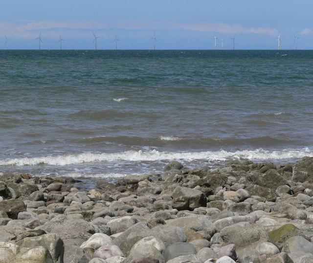 Llanddulas beach and Rhyl Flats Offshore Wind Farm