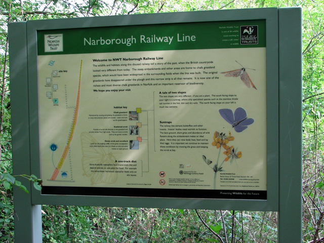 Narborough Railway Line walk - information board