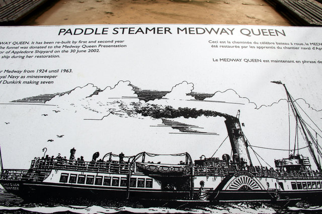 Information Board re Medway Queen Paddle Steamer