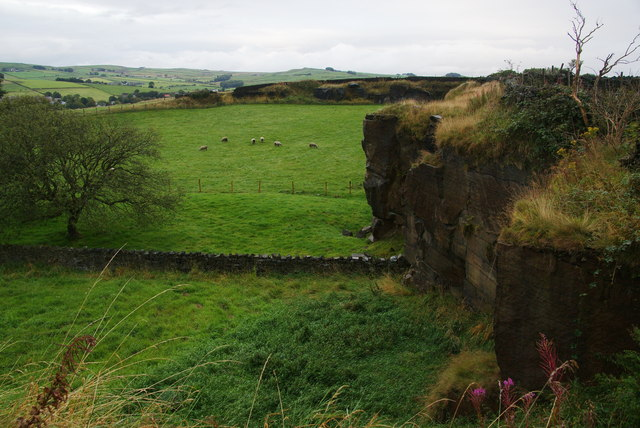 Former quarry at Winewall