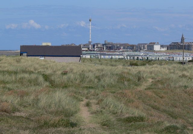 Rhyl Sky Tower from Kinmel Bay