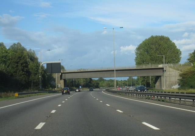 M4 passing under Cutbush Lane