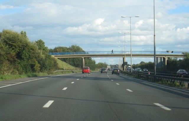 Footbridge across the M4