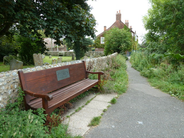 Bench outside Bosham churchyard