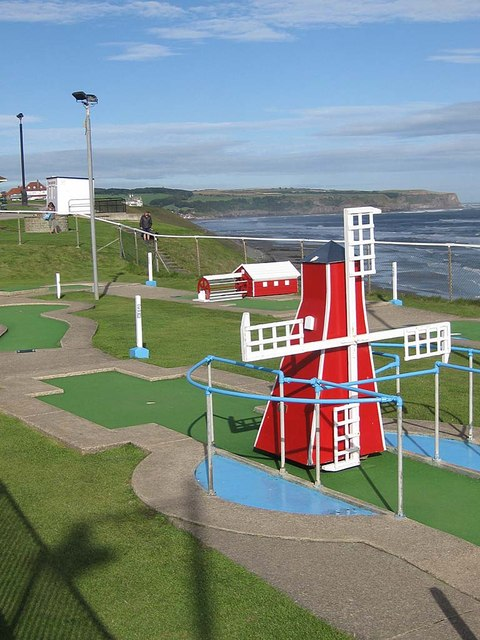 Miniature golf, West Cliff, Whitby