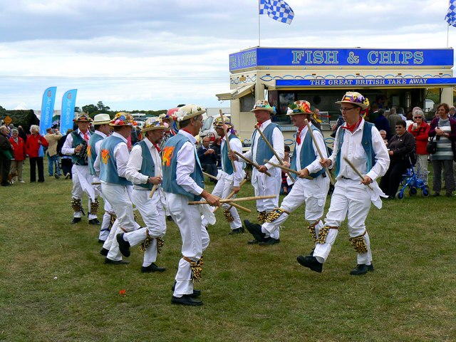 Morris Dancers at the White Horse Show, Uffington 2011