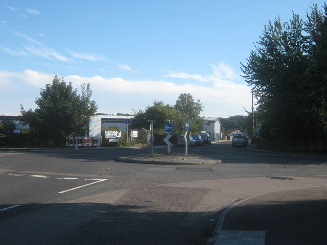 Roundabout on Crabtree Manorway North