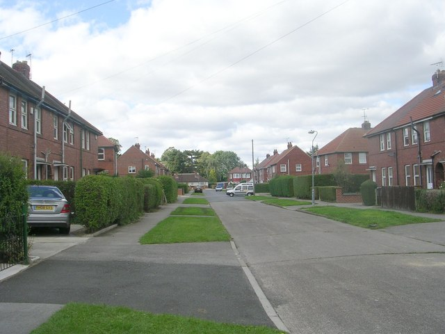 Hadrian Avenue - looking towards Tang Hall Lane