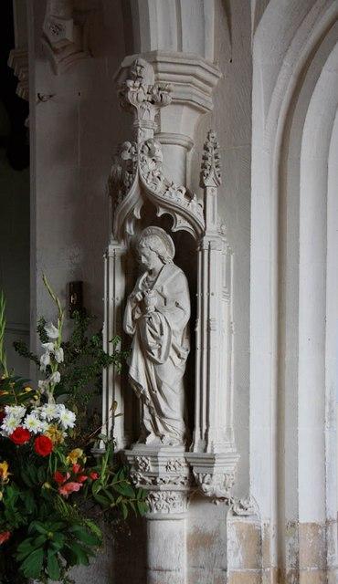 St John, Stansted Mountfitchet - Statue