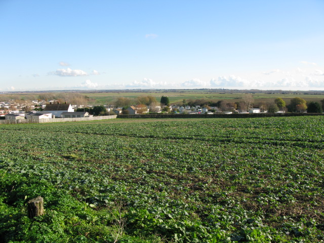 View across the low lying fields of  the Wantsum Channel