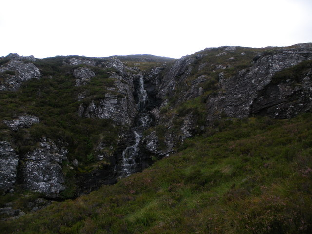 Small waterfall on the Allt an Easain Bhain
