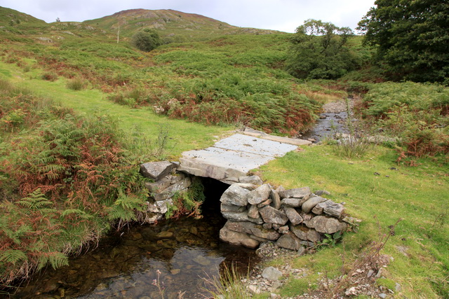 Clapper bridge over Strands Beck