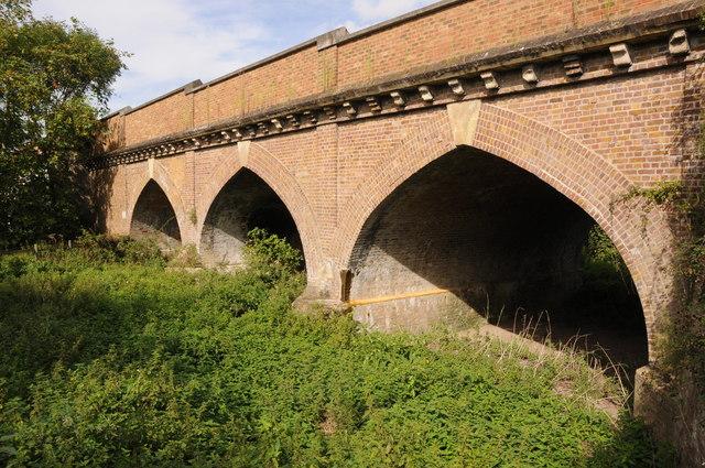 Arches leading to Albert Bridge