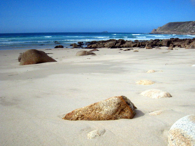 Rocks at the northern end of Sennen Beach