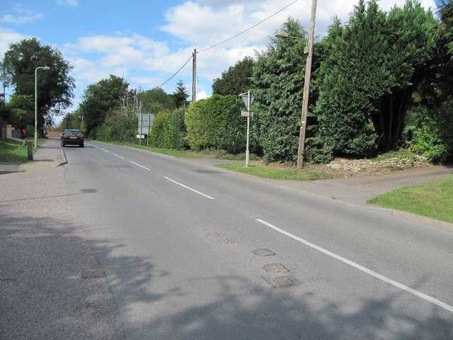Looking along Ham Road