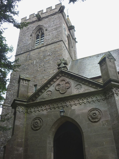 Porch and tower of St Lawrence's Church, Crosby Ravensworth