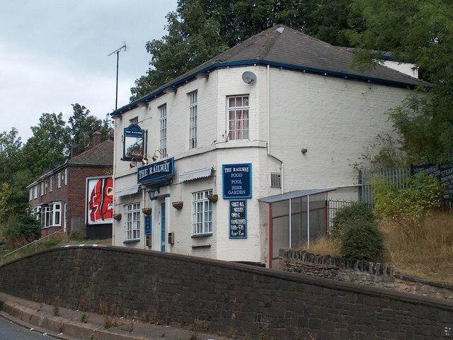 """The Railway"" on Blackburn Road, north east Sheffield"