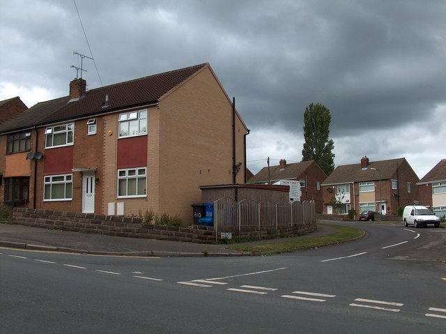 Junction of Maple Croft Crescent and Newman Road, Wincobank