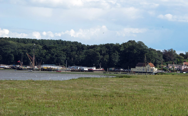 Looking to Pin Mill Harbour and the Butt and Oyster