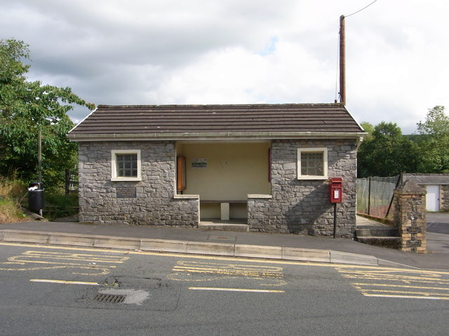 Bus Stop Shelter and Public Convenience, with Post Box, Alltwalis