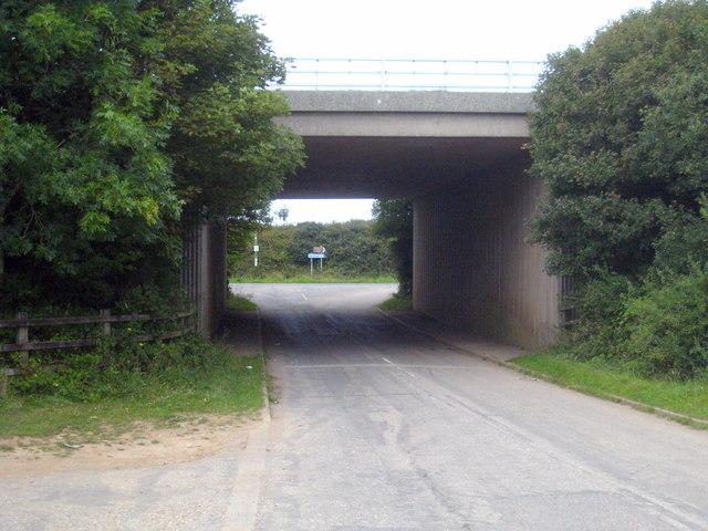 A30 bridge over a minor road at Kehelland.