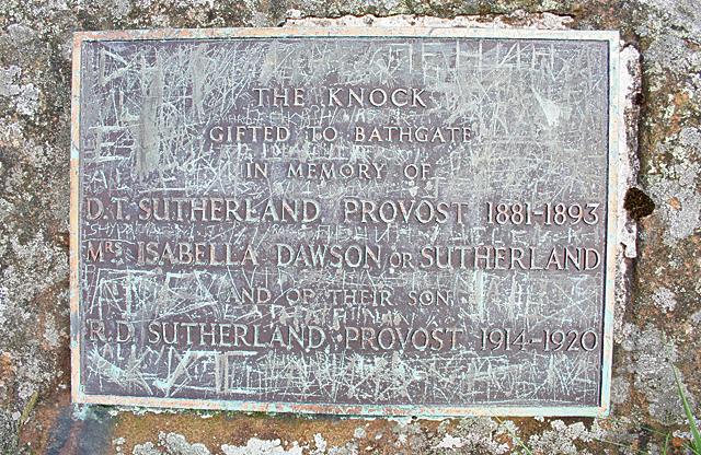 Sutherland Plaque