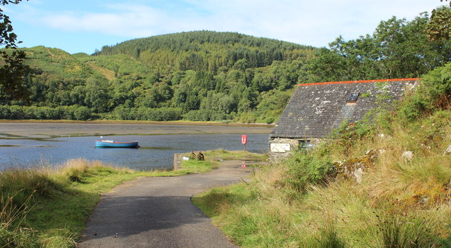 The end of the road at Crinan Ferry