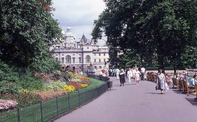 Walking through St James's Park