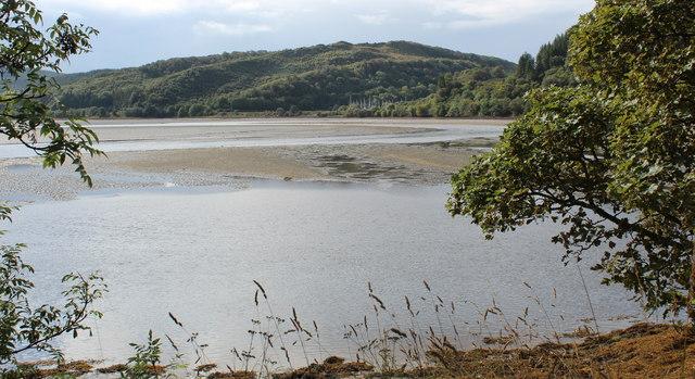 Sandbanks in the Add estuary, from Crinan Ferry