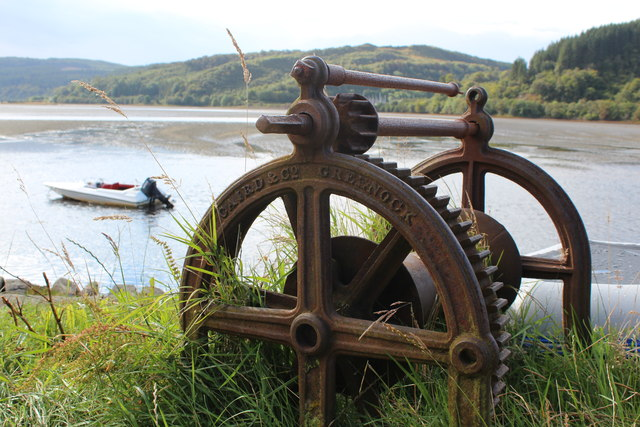 Old windlass, Crinan Ferry
