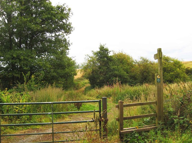 Public footpath from Brunthorne Lane to Ribbesford Road, near Areley Kings