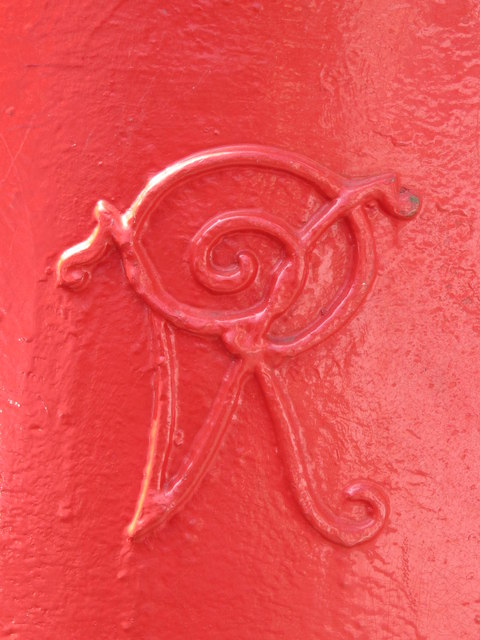 Victorian postbox, Mora Road, NW2 - royal cipher