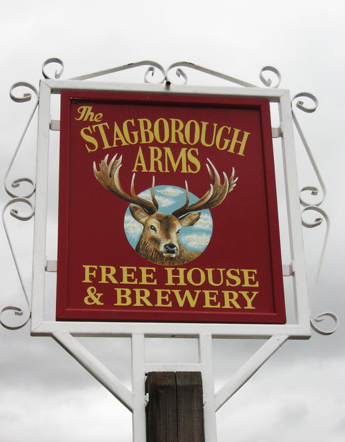 The new sign of The Stagborough Arms, 81 Lower Lickhill Road, Stourport-on-Severn