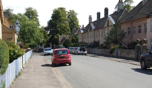 Eastern end of Badminton High Street