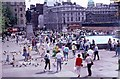 TQ3080 : Tourists in Trafalgar Square (3) by Peter Shimmon
