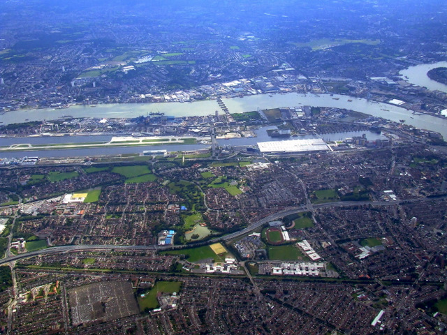 London City Airport from the air