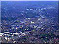 TQ3982 : London Olympics site from the air by Thomas Nugent