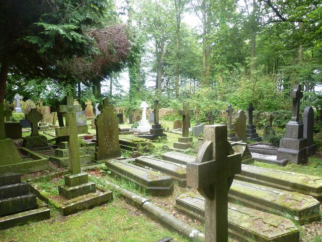 Woodland Graveyard near Hurst Green