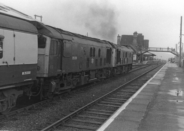 Class 25s at  Machynlleth, 1983